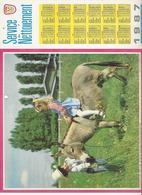 CALENDRIER  SERVICE DU NETTOIEMENT  DES EBOUEURS    ANNEE 1987  ANE   ****   A  SAISIR  *** - Big : 1981-90
