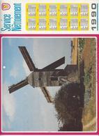 CALENDRIER  SERVICE DU NETTOIEMENT  DES EBOUEURS    ANNEE 1990  MOULIN  ****   A  SAISIR  *** - Big : 1981-90