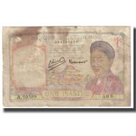 Billet, FRENCH INDO-CHINA, 1 Piastre, KM:52, B - Indochina