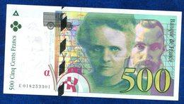 BILLET 500 FR 1994 TTB++++ CURIE - 1992-2000 Ultima Gama