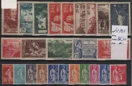FR 1034 - LOT DE 25  Timbres De France Neufs* Année 1937 Côte 56,00 € - Unused Stamps