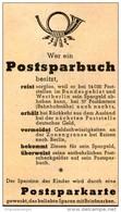 Original-Werbung/ Anzeige 1952 - POSTSPARBUCH / POSTSPARKARTE - Ca. 45 X 80 Mm - Werbung