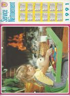 CALENDRIER  SERVICE DU NETTOIEMENT  DES EBOUEURS    ANNEE 1991  ENFANT CHIEN ****   A  SAISIR  *** - Grand Format : 1991-00