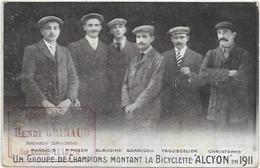 83. LE LUC. AGENCE GENERALE HENRI GRIMAUD  SERRURIER MECANICIEN RUE MODENE LE LUC.  GROUPE CHAMPIONS BICYCLETTE ALCYON - Le Luc