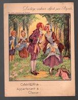 """Protège-cahier  Offert Par BYRRH """" Nous N'irons Plus Au Bois"""" (illustré LEONNEC) (CAT 1388) - Book Covers"""