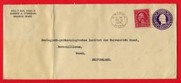 USA,  1935, To Geologisch-paläntologisches Institut Der UNI Basel - Etats-Unis