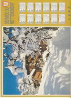CALENDRIER  SERVICE DU NETTOIEMENT  DES EBOUEURS    ANNEE 1993  PAYSAGE MONTAGNE ****   A  SAISIR  *** - Grand Format : 1991-00