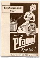 Original-Werbung/ Anzeige 1956 - PFANNI KNÖDEL - Ca. 60 X 80 Mm - Pubblicitari