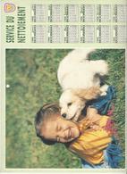 CALENDRIER  SERVICE DU NETTOIEMENT  DES EBOUEURS    ANNEE 1998  CHIEN  ****   A  SAISIR  *** - Grand Format : 1991-00