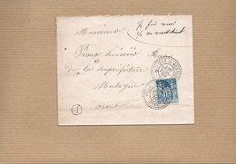 LSC 1900 - Cachets Perlés  VILLIERS Sur MORTAGNE  Sur Timbre Type Sage 15c Bleu - Griffe A - Marcophilie (Lettres)