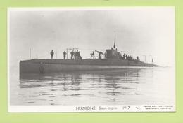 HERMIONE Sous-marin 1917 / Photo Marius Bar, Toulon / Marine - Bateaux - Guerre - Militaire - Sous-marins
