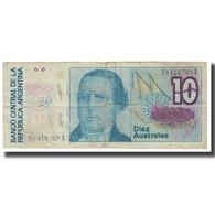 Billet, Argentine, 10 Australes, KM:325a, B+ - Argentine