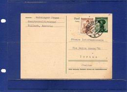 ##(DAN196)- Austria 1956-  Postcard From Villach To Torino-Italy - Written In Esperanto - 1945-.... 2ª República