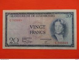 Luxembourg , 20 Francs 1955 , Tb  , Série C - Lussemburgo