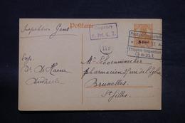 BELGIQUE - Cachet D 'Etape Sur Entier Postal De Dudzele Pour Bruxelles En 1917 - L 28472 - [OC26/37] Staging Zone