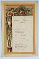 """MENU - MESSAGERIE MARITIME - PAQUEBOT """"MELBOURNE"""" - 1er CLASSE - VERS L'ASIE - ORIENTALISME - DANSEUSE - 1902 - - Menus"""