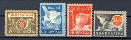 1944 - Croazia Indipendente - Pro Postelegrafonici E Ferrovieri - Nuovi MLH* - Croazia