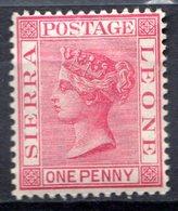 SIERRA LEONE - (Colonie Britannique) - 1883-95 - N° 20 - 1 P. Carmin - (Victoria) - Sierra Leone (...-1960)