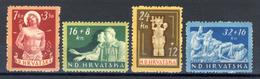 1944 - Croazia Indipendente - Pro Invalidi Di Guerra - Nuovi MLH* - Croazia