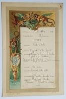 """MENU - MESSAGERIE MARITIME - PAQUEBOT """"MELBOURNE"""" - 1er CLASSE - VERS L'ASIE - GROUPE DE SINGES - 1902 - - Menus"""