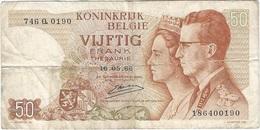 Bélgica - Belgium 50 Francs 16-5-1966 Pk 139 3 Firma Kestens Ref 29 - [ 2] 1831-... : Reino De Bélgica