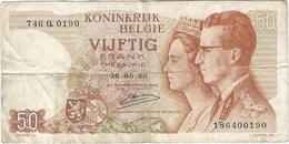 Bélgica - Belgium 50 Francs 16-5-1966 Pk 139 3 Firma Kestens Ref 29 - Otros