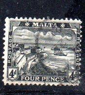 APR806 - MALTA 1914 , Giorgio V : N. 48  Usato  Fil MultiCA  (2380A) . - Malta