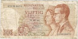 Bélgica - Belgium 50 Francs 16-5-1966 Pk 139 3 Firma Kestens Ref 31 - [ 2] 1831-... : Reino De Bélgica