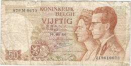 Bélgica - Belgium 50 Francs 16-5-1966 Pk 139 3 Firma Kestens Ref 31 - Otros