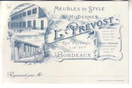BORDEAUX Carte Commerciale MEUBLES L. PREVOST - Bordeaux