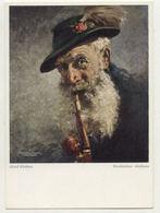 T1164/ Rauchen Werdenfelser Almbauer Raucht Pfeife  Verlag: Wiechmann  - Ansichtskarten