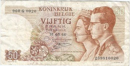 Bélgica - Belgium 50 Francs 16-5-1966 Pk 139 3 Firma Kestens Ref 34 - Otros