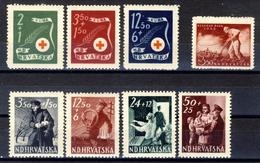 1944/45 - Croazia Indipendente - Lotto Di 3 Emissioni - Nuovi MLH* E MNH** - Croazia