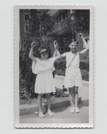 PHOTO DE DEUX ENFANTS MAISON ALFORT 1935 11 X 7 CM - Personnes Anonymes