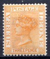 SIERRA LEONE - (Colonie Britannique) - 1883-95 - N° 25 - 3 P. Ocre - (Victoria) - Sierra Leone (...-1960)