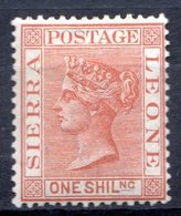 SIERRA LEONE - (Colonie Britannique) - 1883-95 - N° 28 - 1 S. Rouge-brun - (Victoria) - Sierra Leone (...-1960)