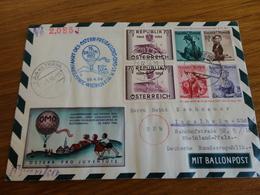 TIMBRE AUTICHE ENTIER POSTAL PAR BALLON 1956 - Ganzsachen