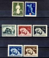 1942/43/44 - Croazia Indipendente -  Francobolli Di Beneficenza 3 Emissioni - Nuovi MNH** - Croazia