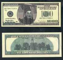 Lot De 2 Billets De 1000$ De La Banque De L'Enfer (Chinese Hell Bank Note) Chine - Banque Du Paradis - Banque Des Morts - Chine