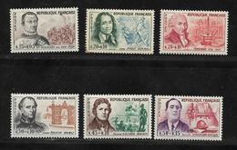 France Timbres De 1961 Célébrités N°1295 A 1300 Neufs ** - Used Stamps