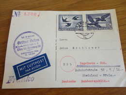 TIMBRE AUTRICHE POUR LA RHENANIE 1954 - 1945-60 Briefe U. Dokumente