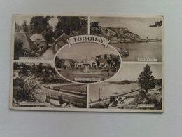 1952 Black And White  Postcard -  Multi View  Torquay - Torquay