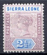 SIERRA LEONE - (Colonie Britannique) - 1897-98 - N° 35 - 2 1/2 P. Violet-brun Et Outremer - (Victoria) - Sierra Leone (...-1960)
