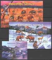 O488 MALDIVES FAUNA PREHISTORIC ANIMALS 1BL+2KB MNH - Stamps