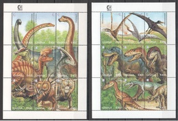 O492 1995 GHANA PREHISTORIC ANIMALS DINOSAURS 2KB MNH - Stamps