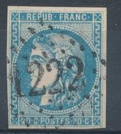 N°46 BORDEAUX VARIETE NUANCE ET OBLITERATION. - 1870 Emission De Bordeaux