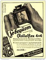 Original-Werbung/Inserat/ Anzeige 1931 - ROLLEIFLEX-KAMERA / FRANKE & HEIDECKE BRAUNSCHWEIG  - Ca. 70 X 90 Mm - Publicités