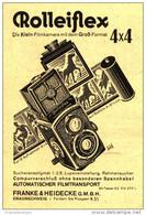 Original-Werbung/Inserat/ Anzeige 1931 - ROLLEIFLEX-KAMERA / FRANKE & HEIDECKE BRAUNSCHWEIG  - Ca. 70 X 100 Mm - Publicités