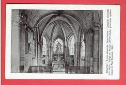 CHARTRES EGLISE ABBATIALE SAINT PIERRE INTERIEUR CARTE BON ETAT - Chartres