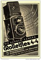 Original-Werbung/Inserat/ Anzeige 1932 - ROLLEIFLEX-KAMERA / FRANKE & HEIDECKE BRAUNSCHWEIG  - Ca. 70 X 100 Mm - Publicités